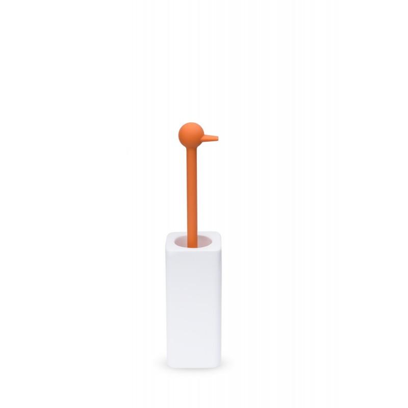Porta scopino tondo da pavimento arancio