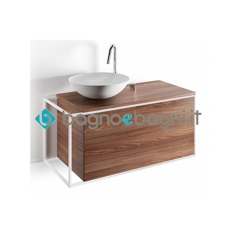 Mobile da bagno Lineabeta modello Grela large con lavabo appoggio