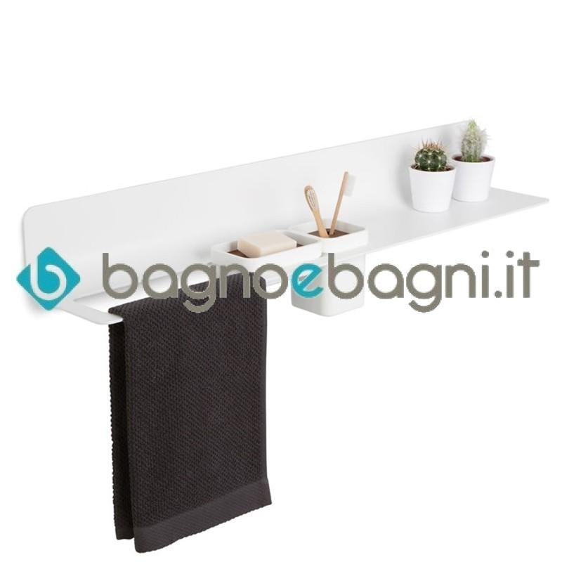Porta Asciugamani Con Mensola.Curva Mensola Con Porta Salviette Bicchiere E Portasapone