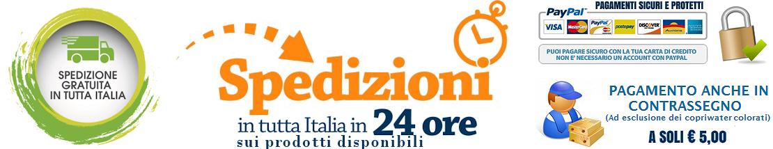 Consegne Gratuite in tutta Italia entro le 24 ore sui prodotti disponibili